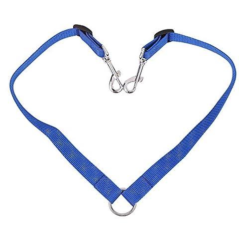 Candora double double Laisse coupleur sans nœuds durable Convient à tous les Dog Walker Trainer Laisse pour deux chiens répartiteur réglable Laisse 16–58,4cm