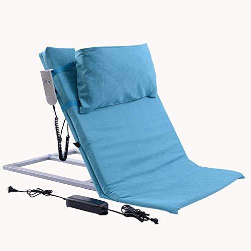 Farzeo Altenpflegebett, Elektrische Sitzlehnenstützten Körperaufzug Nach Bettträger, Baumwolle Atmungsaktive Polsterbezüge Maximalgewicht 200Kg Mit Fernbedienung,Blau