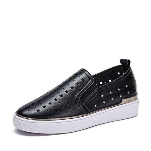 Bout plat rond/Met le pied chaussures/ chaussures occasionnelles NET/ Chaussures de Joker A