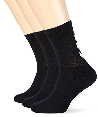 Hummel Socken 3er Set in Grau, Rot oder Blau - REFLECTOR FUNDAMENTAL 3-PACK SOCK - Strümpfe mit Unterstützung für Fußrücken - Sportsocken für Freizeit & Sport, black, 10 (36-40), 22-140-2001