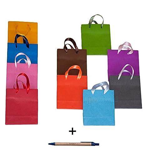 Dazoriginal Petit 10 Sacs cadeaux papier de couleur Sacs en