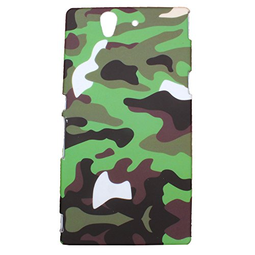 Heartly Army Style Retro Color Armor Hybrid Hard Bumper Back Case Cover For Sony Xperia Z L36H L36I - Army Green  available at amazon for Rs.219