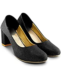 Cattz Women's Multi Colored 3 Inch. Block & Pump Heels