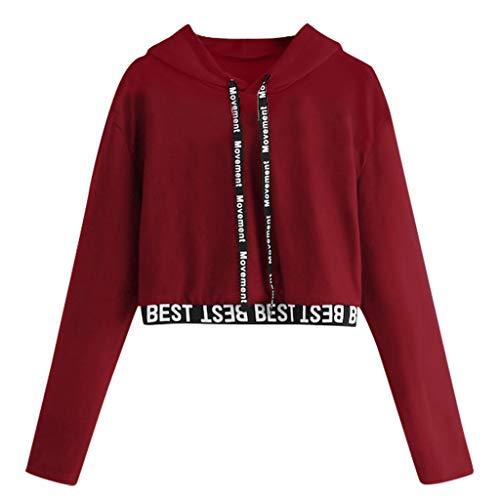 friendGG Damen Pullover Bluse Oberteile Tops T Shirt Winter Casual Loose Strick Sweater Top Outwear Sweatshirt Langarmshrit Strickpullover Strickpulli O-Ausschnitt Schulterfrei Langarm Locker Sexy