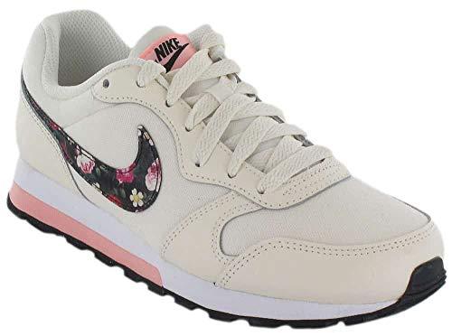 Nike MD Runner 2 Vintage Floral, Zapatillas de Marcha Nórdica Unisex Niños, Rosa (Pale Ivory/Black/Pink Tint/Whi 100), 35.5 EU