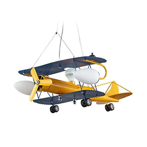 zwl-lampadari-di-aerei-per-bambini-illuminazione-a-led-in-camera-da-letto-luci-boy-lampadario-giallo