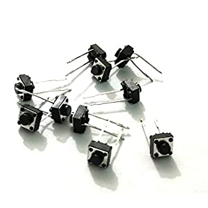 OLatus 2 Pin Tactile Switch Micro Mini – Push to ON button (Pack of 10)