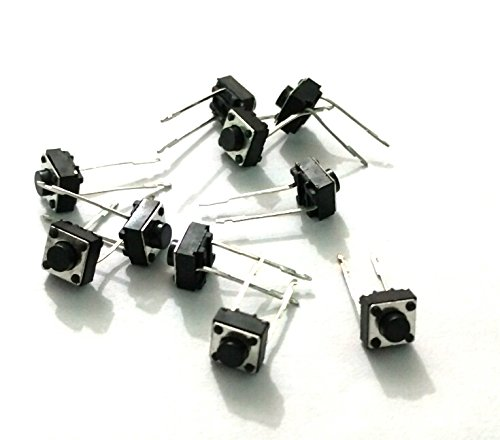 2 Pin Tactile Switch micro – Push to ON button (Pack of 10) by OL ELECTRONICS
