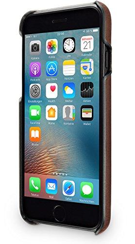 """WIIUKA Echt Lederhülle """"TOUCH"""" Apple iPhone 8 und iPhone 7 DEUTSCHES LEDER mit Kantenschutz extra Dünn Tasche Braun Premium Design Hülle Leder Case Braun"""