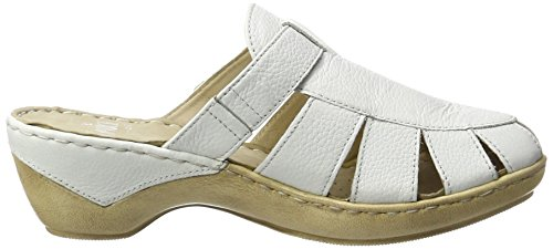 Caprice 27300, Sandales Bout Ouvert Femme Blanc (White Nappa)
