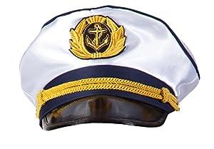 Boland 44353 - sombrero del capitán, un adulto de tamaño, blanca