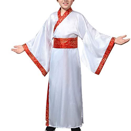 Tenthree Historisch Chinesisch Traditionell Kostüme - Unisex Kinder Hanfu Tang Anzüge Bühne Drama Theater Show Performances Oper Spielen Cosplay ()