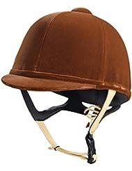 Caldene Tuta pas015.2011Sangle en cuir Bombe d'équitation en velours