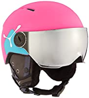 Der Cébé Fire Ball Visor-Casco da sci per bambini ha le seguenti caratteristiche: Der Cébé Fire Ball Visor-Casco da sci per bambini è un casco da sci alla moda con un pratico visiera. Questo casco da sci ha un sottogola con fibbia a sganc...