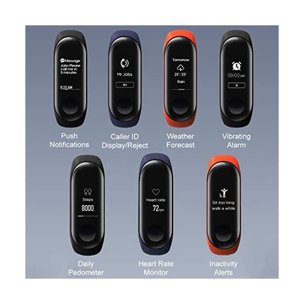 Xiaomi Mi Band 3 - Pulsera de actividad, Pantalla 0.78'' full OLED táctil, Notificaciones, Sumergible 50m, Mide calorías, pasos y sueño, Negro 4