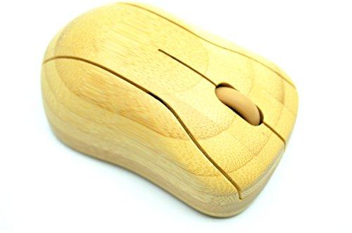 RoseFlower(TM) Bambus Kabellose Optische Funkmaus - Natürliche Handgemachte Bambus / Holz Wireless Mouse
