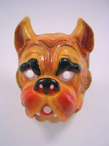 Festartikel Müller Maske Bulldogge Tiermaske Hund Hundemaske zu Karneval Fasching