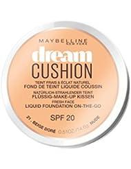 Maybelline New York Dream Cushion Fond de Teint Liquide Coussin 21 Beige Doré 14,6 g