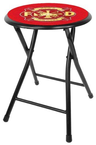 Trademark Gameroom Fire Fighter gepolsterte Klappbarer Hocker, 45,7cm -