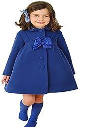 GenialES Trenca Abrigo para Niñas Chaqueta Otoño e Invierno para 2 a 7 años