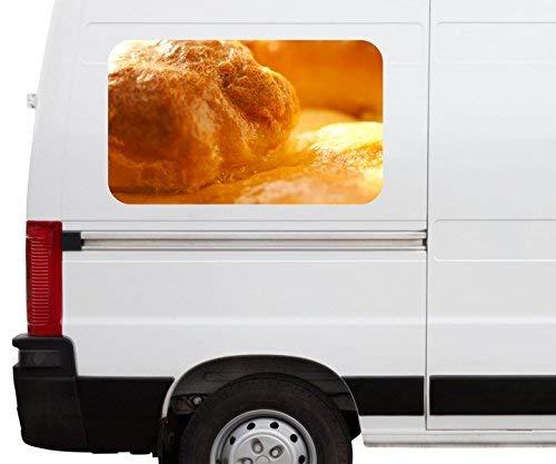 Autoaufkleber Brot Brötchen Beruf Bäcker braun gold Car Wohnmobil Auto tuning Digital Druck Fenster Sticker LKW Bild Aufkleber 21B194, Größe 3D sticker:ca. 120cmx73cm