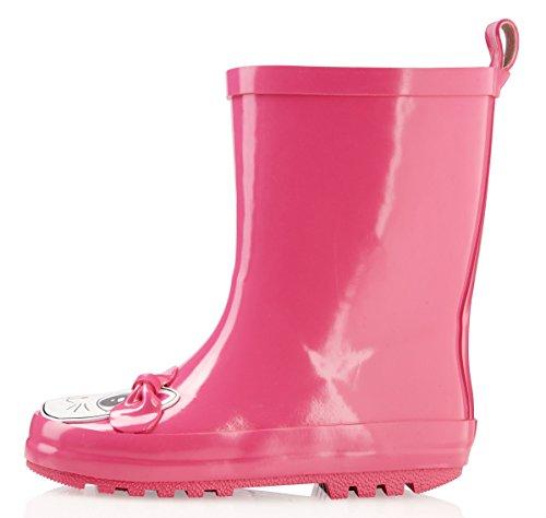 smileBaby Gummistiefel Pink Katze 26 27