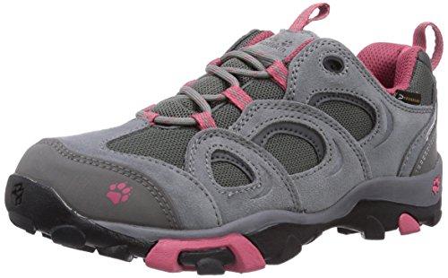 A Jack Wolfskin Meninas Ataque Mtn Baixo Texapore Menina De Trekking E Caminhadas Sapatos Meia Cinza (rosebud 2099)