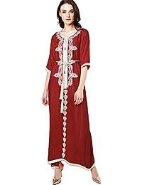 Musulmán islámica abaya / jalabiya kaftan caftán dubai maxi vestido largo para las mujeres ropa vestido