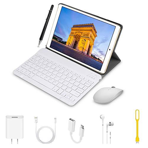 tablet offerta del giorno Tablet Offerte 10.1 Pollici 4G Dual SIM con Wifi Memoria RAM da 3GB+64GB - (Tablet Offerte Android 8.1 Quad-Core con 8MP Fotocamera) DUODUOGO Tablet Offerta Del Giorno con Penne/OTG/Bluetooth/GPS(Oro)
