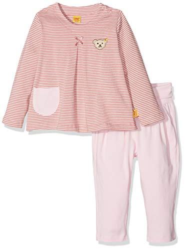 Steiff Baby-Mädchen Bekleidungsset 2tlg. Set T-Shirt 1/1 Arm + Jogginghose, Rosa (y/d Stripe|Multicolored 0001), 62