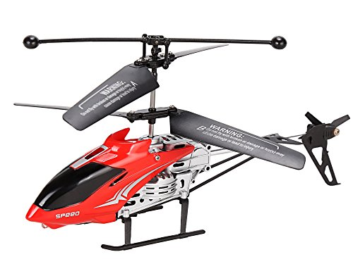 Yoliki Mini RC Heli Helikopter ferngesteuert Rot und Silber Modellhubschrauber Infrarot