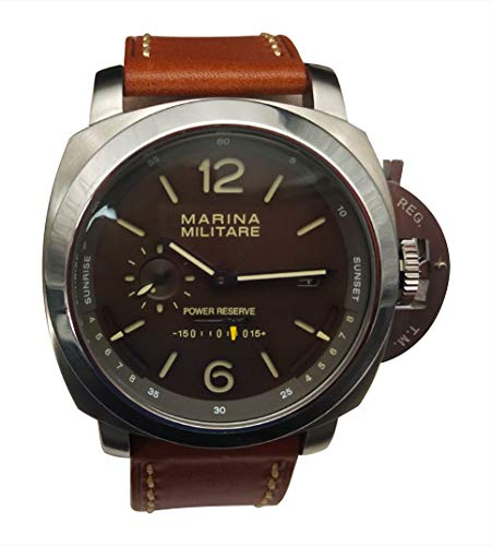 Parnis MM Goliath SS 50mm by Parnis Brown Dial Automatik Kaliber Seagull