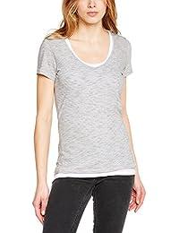 Wrangler - Lot T-shirt + Débardeur - Asymétrique - Uni - Manches courtes - Femme