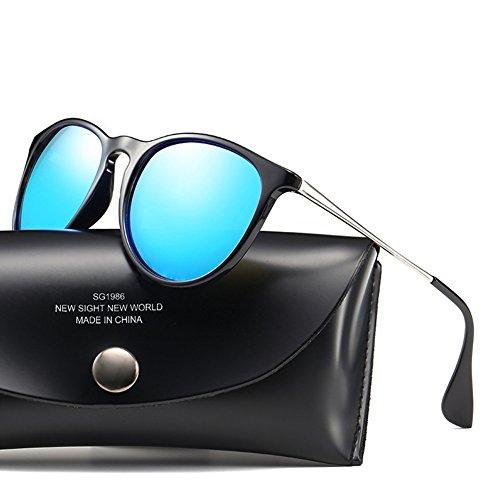 DFGHGXCNBX Farb-Film-Sonnenbrille Herren-und Damen-Sonnenbrille Der gleiche Absatz-Mode-Sonnenbrille, 010