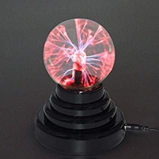"AIICIOO Magic Plasma Ball Kids Funny Scientific Toy Birthday Present Nightlight Super Cool Lightening at Your Fingertips Contact Sensitive 3"" Sphere Light USB Charge"