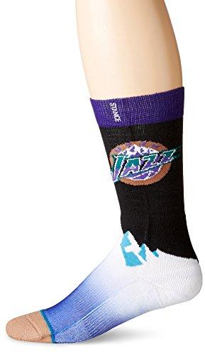 Stance Utah Jazz Hardwood Classics Logo NBA Socken Schwarz L (Classic Schuhe Nba)