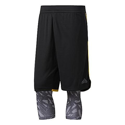 adidas Herren Essential 2 in 1 Shorts, Black, XL