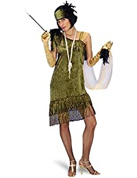 20's Charleston Flapper Fancy Dress Costume - Women - Green