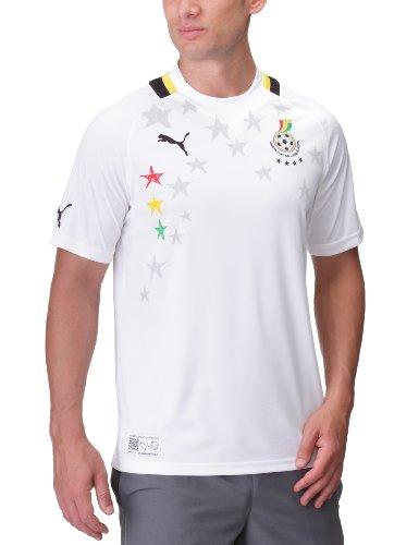 PUMA Herren Fußballtrikot Africa Home Replica, white-black-ghana, XL, 740193 10