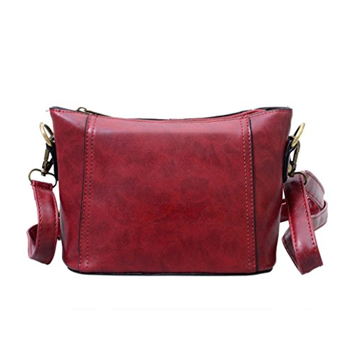 Transer Women Shoulder Bag Popular Girls Hand Bag Ladies Leather Handbag, Borsa a spalla donna Red 18cm(L)*14(H)*10cm(W) Red