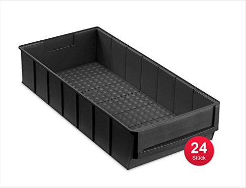 Preisvergleich Produktbild Industriebox 400 B leitfähig, 400x183x81mm, 24 St., schwarz