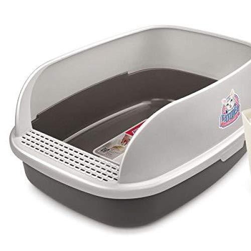 MASAP Cassetta Igienica Toilette per Gatti-Pane Semi-Chiuso Gatto Toilette Gatto Gatto Gatto Vaso Vasino Rock 51 * 38 * 25 Cm Roccia 64 * 47 * 27 Cm