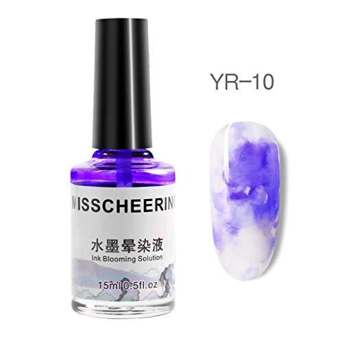 Gaddrt Nagellack Aquarell-Tinten-flüssiger -Gel-Effekt-Marmorsteigungs-Maniküre-Frauen-Nagel (J) -