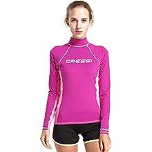 Cressi Women's Rash Guard Lady SL Long Sleeve-UV Sun Protection (UPF) 50+, Lilac/Pink, Small