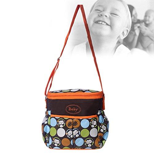 Gazechimp mama tasche Baby Wickeltasche Umwandlung Mutterschaft Schultertasche Orange