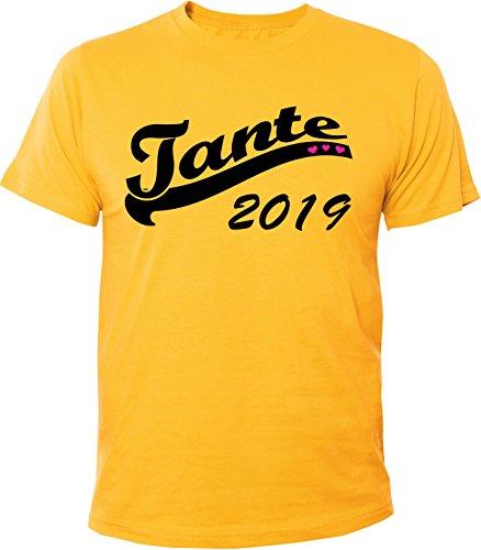 Mister Merchandise Herren Men T-Shirt Tante 2019 Tee Shirt bedruckt Gelb