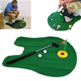 Swiftswan lustige Töpfchen Putter WC Zeit Mini Golf Spiel Neuheit Gag Geschenk Spielzeug Mat