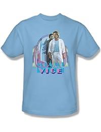 Miami Vice - - Miami Heat adulto Camiseta en azul claro