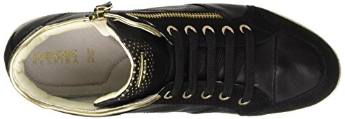 Geox D Myria A Damen Sneaker Schwarz (Blackc9999)