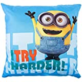 Gibra Coussin Minions, « Try Harder », 40 x 40 cm, article original sous licence